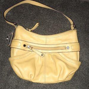 """""""Tignanello"""" mustard colored purse"""